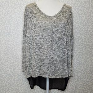 Lane Bryant Mixed Media Shimmer Sweater